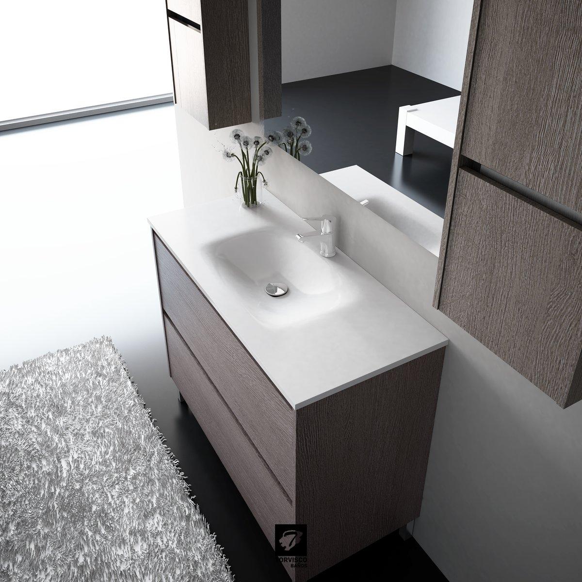 Muebles De Baño Torvisco: de particulas 16 mm acabado exterior laca alto brillo detalle de color